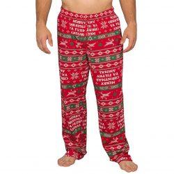 Home Alone Merry Christmas Ya Filthy Animal Lounge Pants - Red - XXL