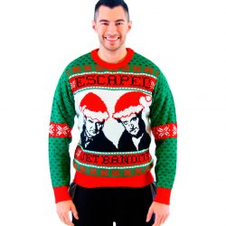 Home Alone Wet Bandits Ugly Christmas Sweater - Green - 3X