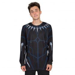 Marvel Comics Black Panther Long Sleeve T-shirt - Black - 4XL