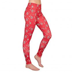 Merry Christmas Ya Filthy Animal Women's Red Leggings - Red - XXL