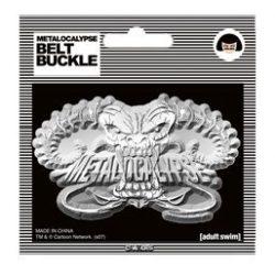 Metalocalypse Dethklok DemonHead Silver Belt Buckle - Silver - One size fits all