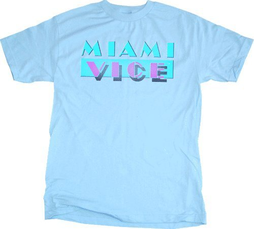 Miami Vice Light Blue Logo T-shirt - Light - 2X