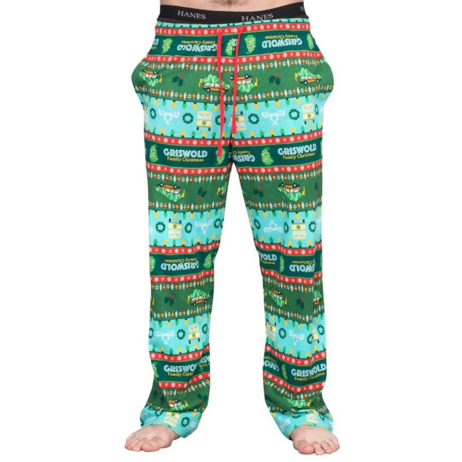 National Lampoon's Griswold Family Christmas Vacation Lounge Pants - Green - XXL