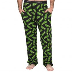Rick and Morty Pickle Rick Lounge Pants - Black - XXL