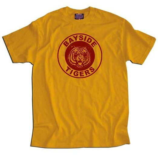 Saved By the Bell Bayside Gold Tigers T-shirt - Gold - 2X