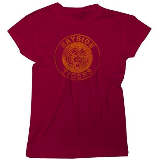 Saved By the Bell Bayside Tigers Circle Tee - Maroon - XL