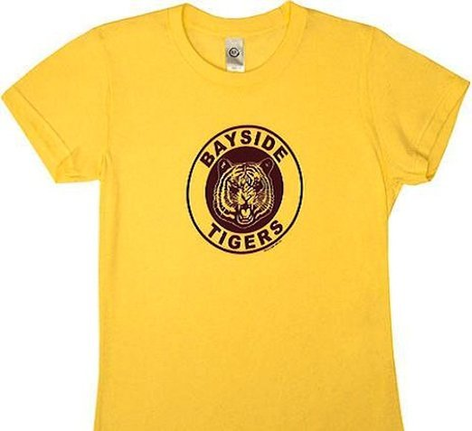 Saved By the Bell Bayside Tigers Juniors Tee - Yellow - L