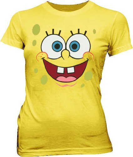 SpongeBob SquarePants Basic Bob Face T-shirt - Yellow - XL
