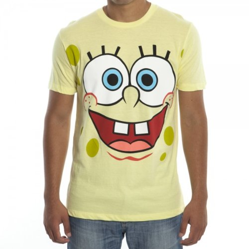 Spongebob Square Pants Big Face T-shirt - Yellow - 2X