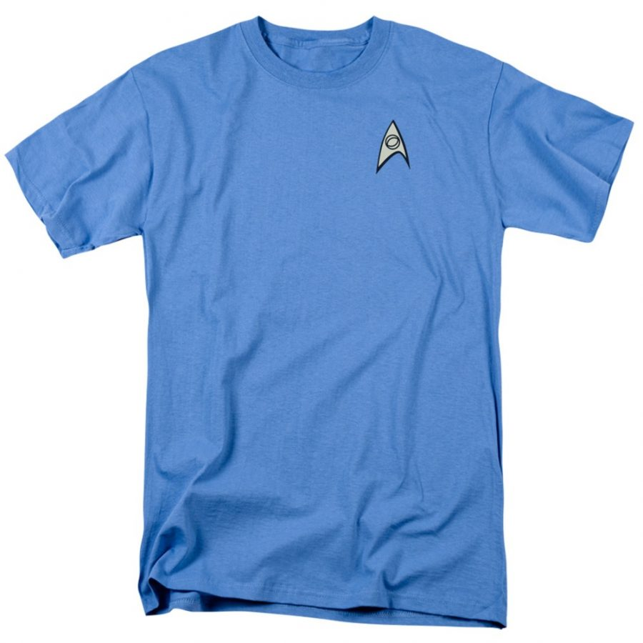 Star Trek Science Uniform Image T-shirt - Blue - 3X