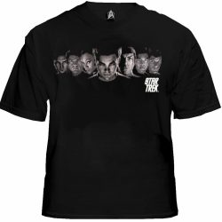 Star Trek The Movie Enterprise Crew T-shirt - Black - 2X