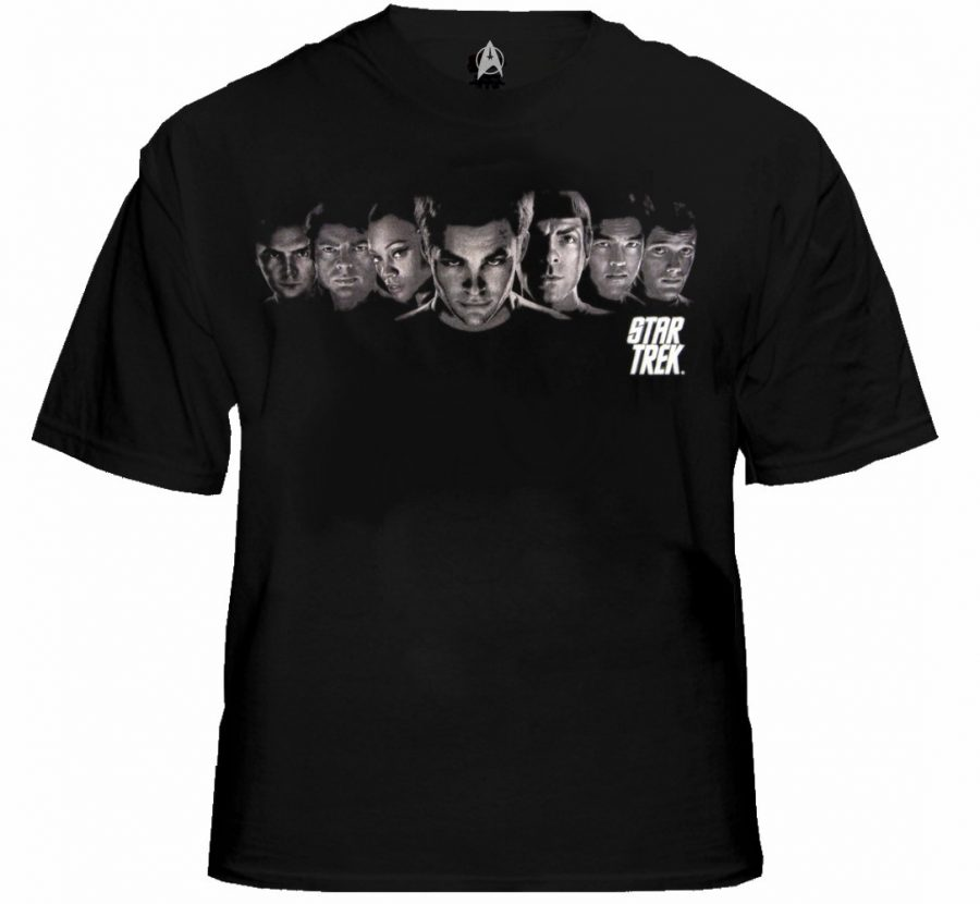 Star Trek The Movie Enterprise Crew T-shirt - Black - 2X