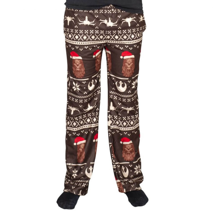 Star Wars Chewbacca Christmas Brown Lounge Pants - Brown/Red - 3XL