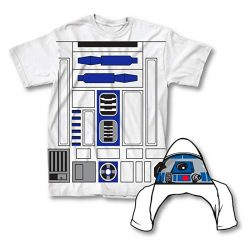 Star Wars I Am R2-D2 adult Flip Costume White T-Shirt