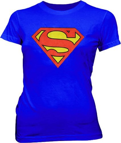 Superman Original Classic Logo T-shirt - Blue - XL