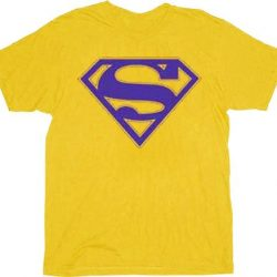 Superman Purple Shield Logo T-shirt - Gold - 3X