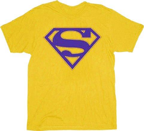 Superman Purple Shield Logo T-shirt - Gold - 3X