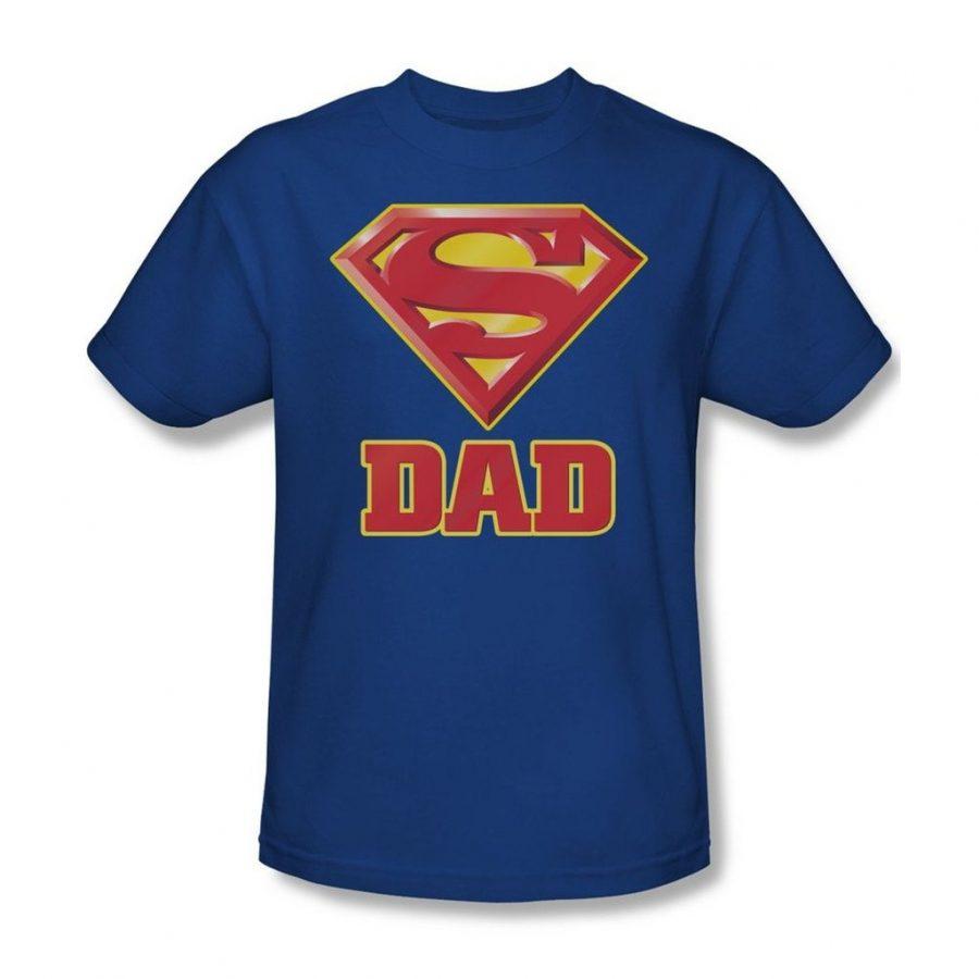Superman Super Dad T-shirt - Royal Blue - 3X