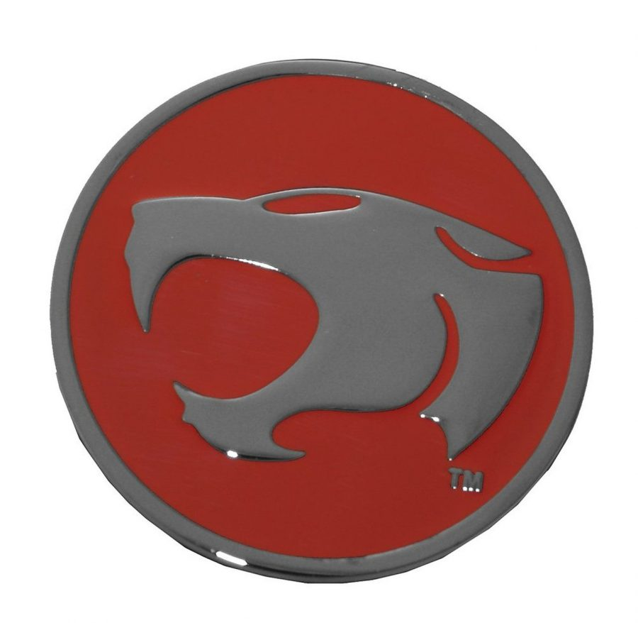 Thundercats Head Logo Metal Belt Buckle - Red/Silver - One size fits all