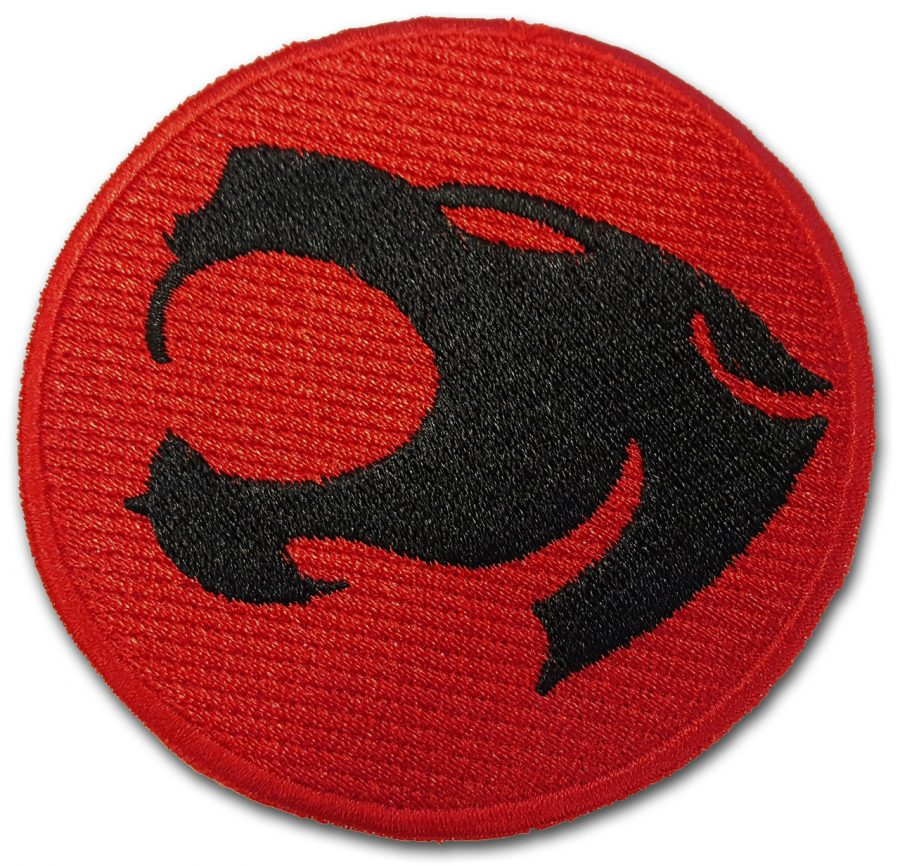 Thundercats Logo Heat Sealed Embroidery Patch - Black/Red - One size fits all