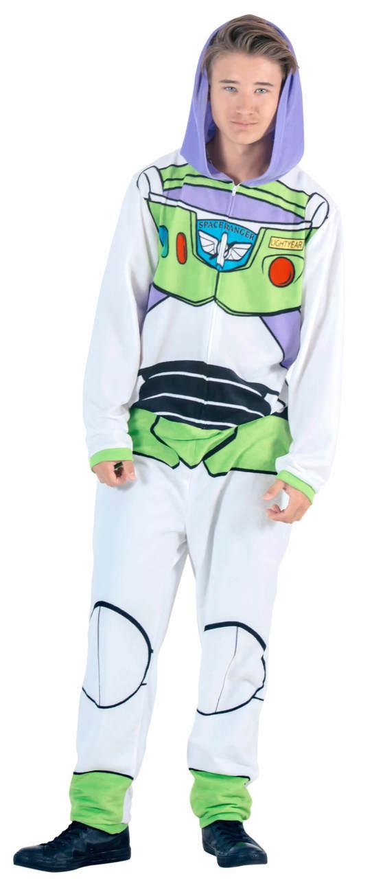 Toy Story Buzz Lightyear Union Suit Costume Pajama - White - XL