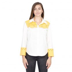 Toy Story Jessie Cowgirl Costume Shirt - White - 2X
