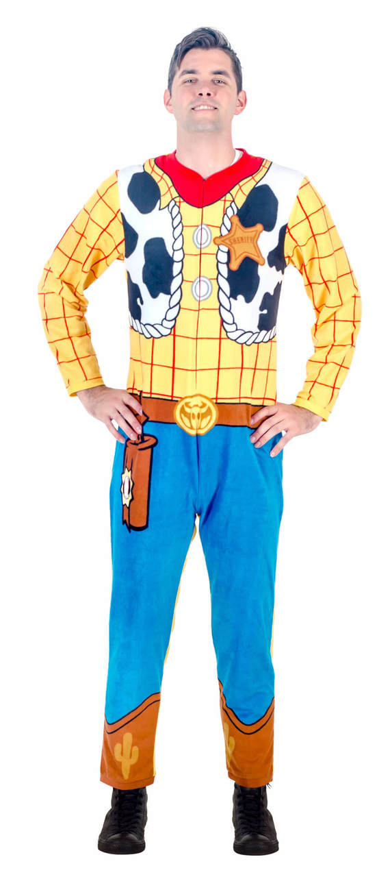 Toy Story Sheriff Woody Union Suit Costume Pajama - Yellow - XL