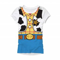 Toy Story Woody Costume Juniors T-Shirt - White - XXL