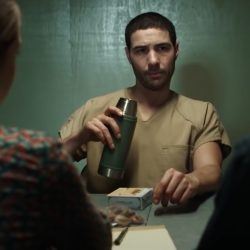 Green Insulated Bottle Tahar Rahim in The Mauritanian