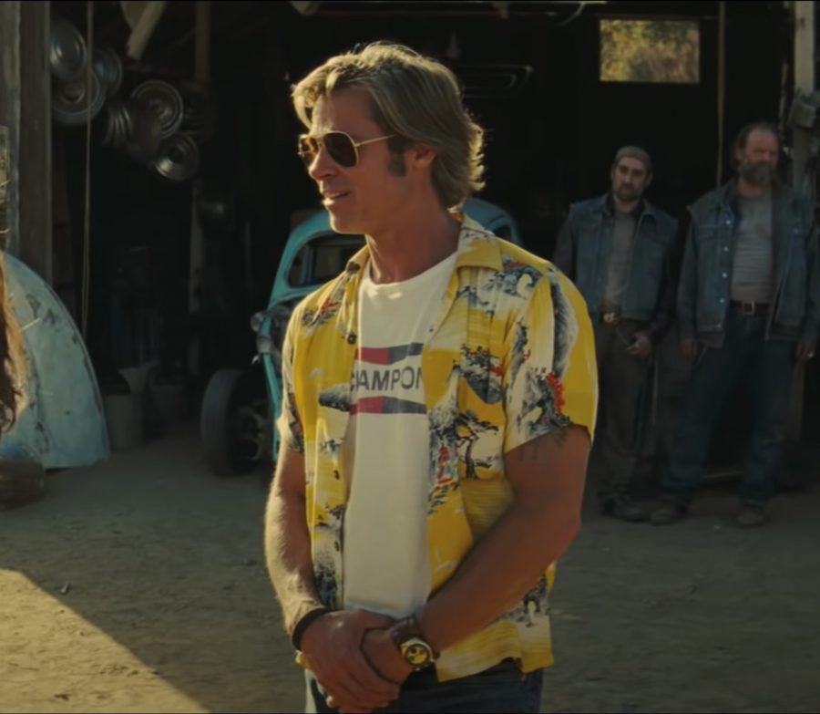 Champion shirt Brad Pitt in Once Upon a Time in Hollywood